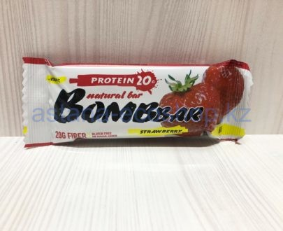 Батончик BombBar 'Клубника' (без сахара, без глютена) — 60 г