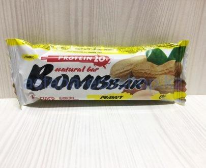 Батончик BombBar 'Арахис' (без сахара, без глютена) — 60 г