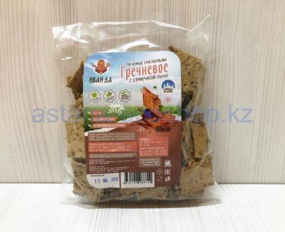 Печенье '3 пользы' гречневое с семечкой льна — 150 г