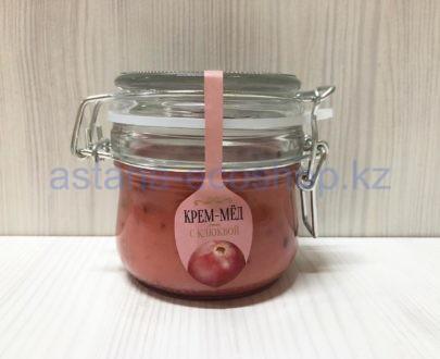 Крем-мед с клюквой — 200 г