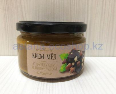 Крем-мед с фундуком и шоколадом — 200 г