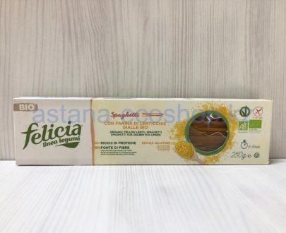 Макароны (паста) из желтой чечевицы и цельнозернового риса (без глютена), спагетти — 250 г