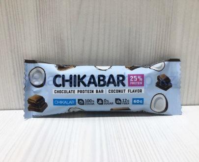 Батончик Chikalab, протеиновый шоколадный, кокос — 60 г