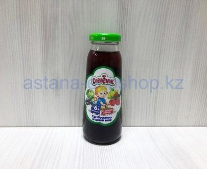 Сок 'Спеленок' фруктово-ягодный микс, с 6 месяцев (без сахара) — 0,2 л