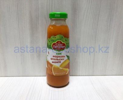 Сок морковь апельсин манго, с 12 месяцев (без сахара) — 0,3 л