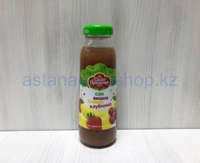 Сок вишня банан клубника, с 12 месяцев (без сахара) — 0,3 л