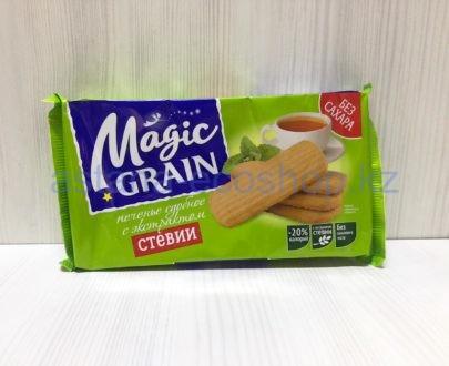 Печенье сдобное Magic Grain с экстрактом стевии (бех сахара) — 150 г