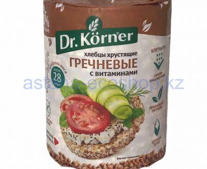 Dr. Korner хлебцы хрустящие Гречневые с витаминами 100 гр 600